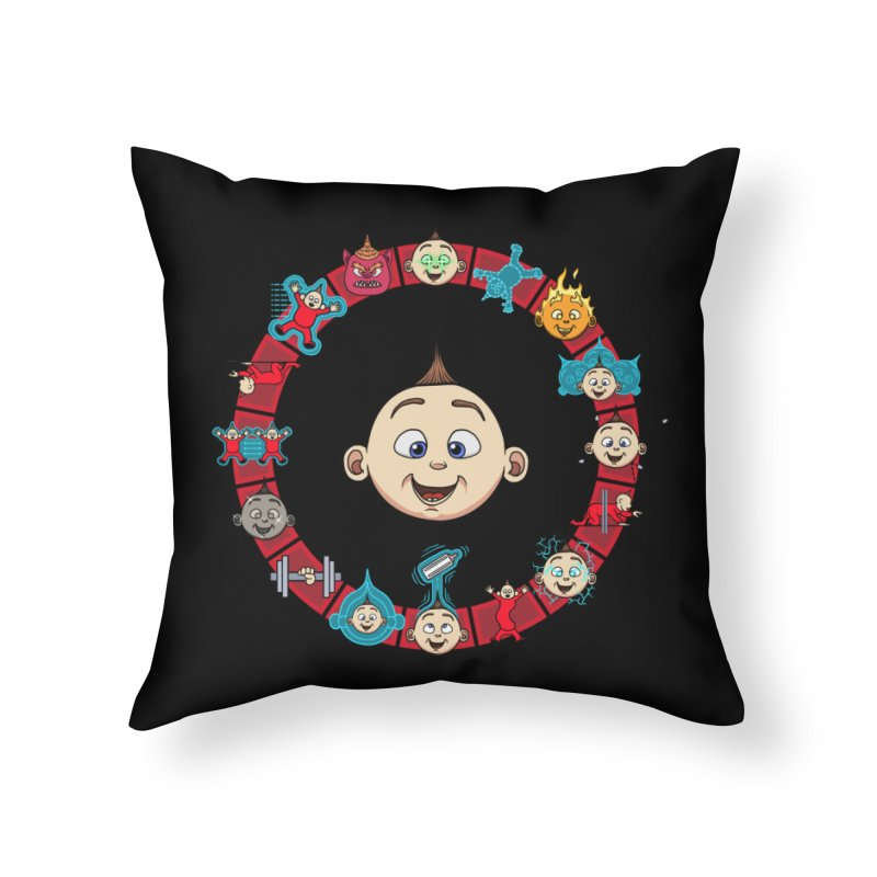 The Incredible Jack Jack Home Throw Pillow by ArtByDanger's Artist Shop
