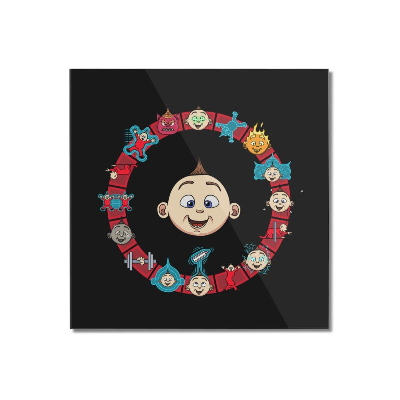 The Incredible Jack Jack Home Mounted Acrylic Print by ArtByDanger's Artist Shop