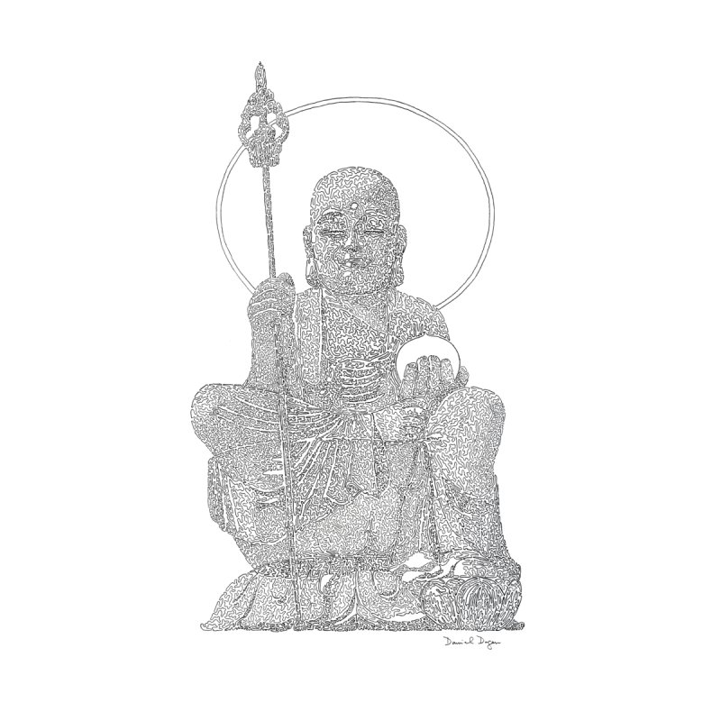 Buddha - One Continuous Line by Daniel Dugan's Artist Shop