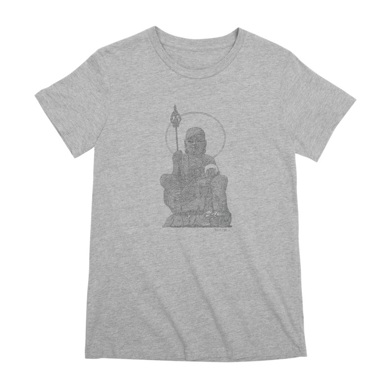 Buddha - One Continuous Line Women's Premium T-Shirt by Daniel Dugan's Artist Shop