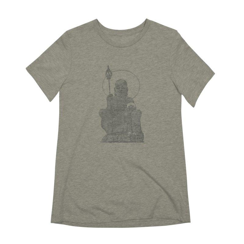 Buddha - One Continuous Line Women's Extra Soft T-Shirt by Daniel Dugan's Artist Shop