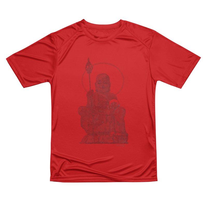 Buddha - One Continuous Line Men's Performance T-Shirt by Daniel Dugan's Artist Shop