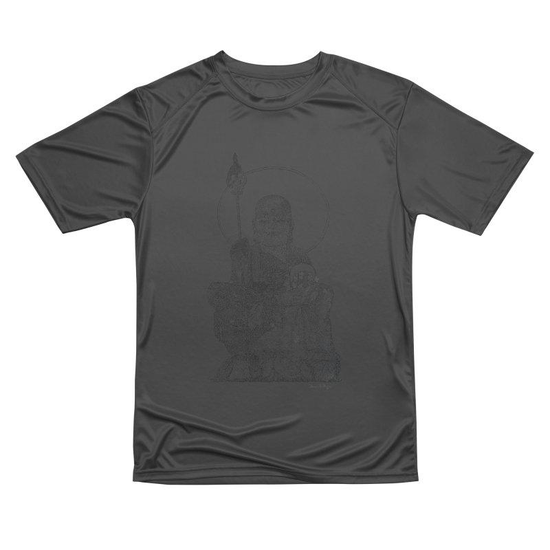 Buddha - One Continuous Line Women's Performance Unisex T-Shirt by Daniel Dugan's Artist Shop