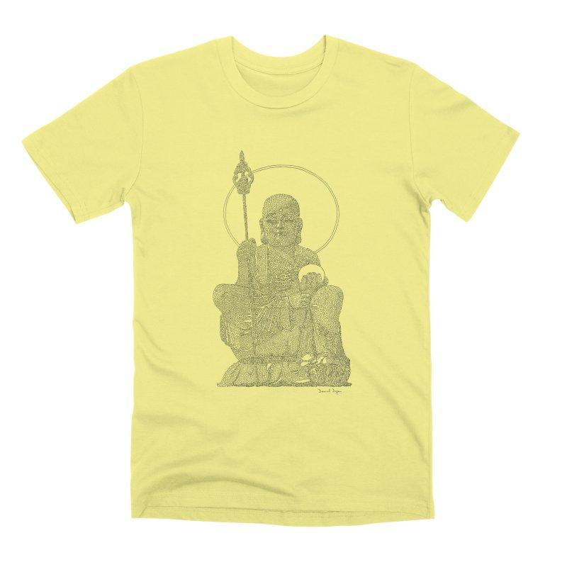 Buddha - One Continuous Line Men's Premium T-Shirt by Daniel Dugan's Artist Shop