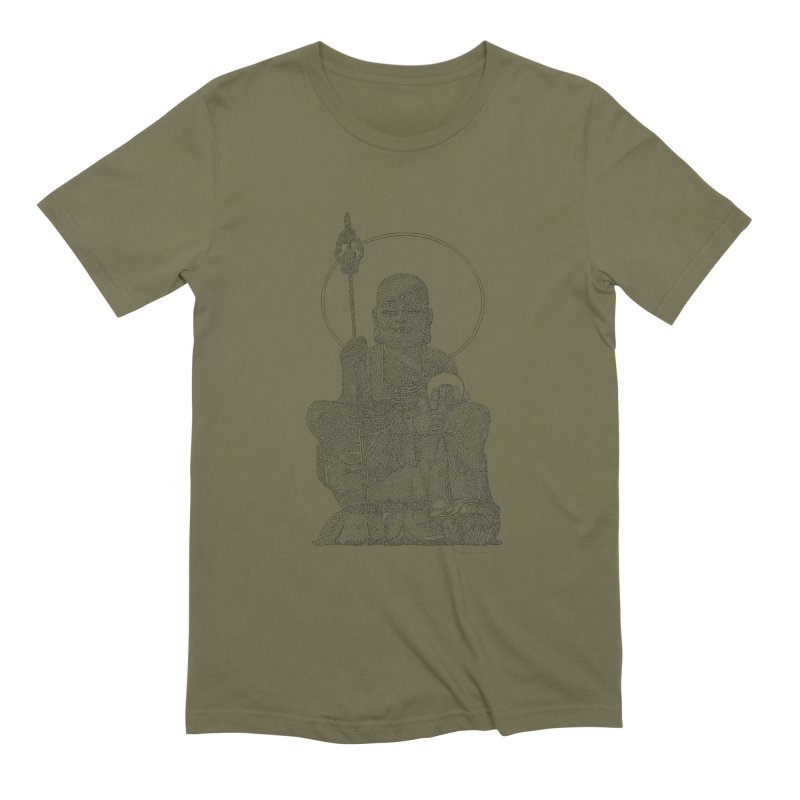 Buddha - One Continuous Line Men's Extra Soft T-Shirt by Daniel Dugan's Artist Shop