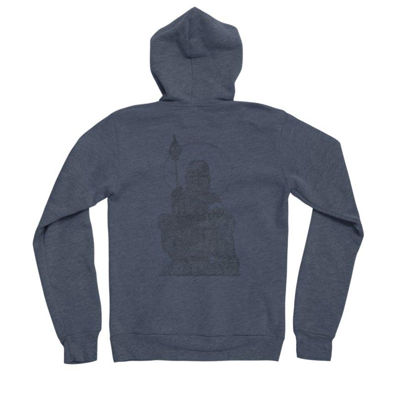 Buddha - One Continuous Line Women's Sponge Fleece Zip-Up Hoody by Daniel Dugan's Artist Shop