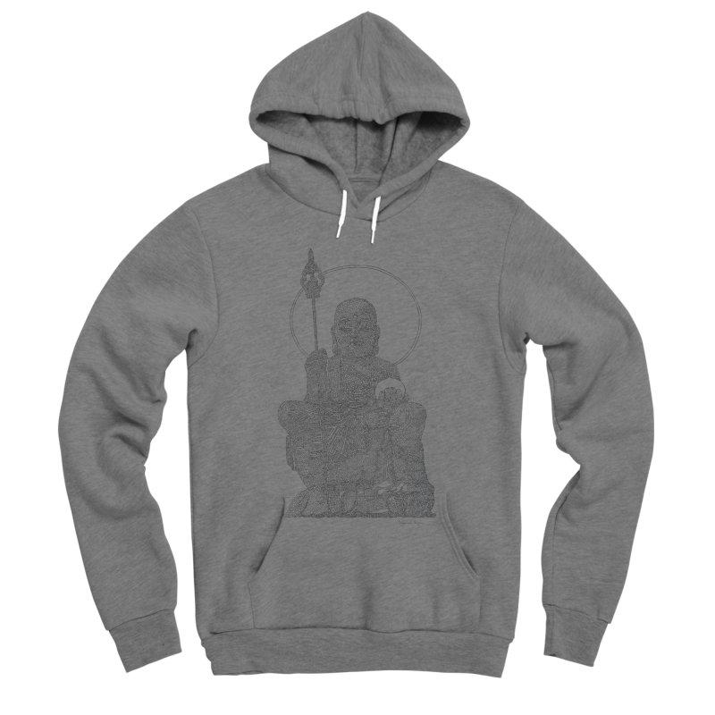 Buddha - One Continuous Line Men's Sponge Fleece Pullover Hoody by Daniel Dugan's Artist Shop