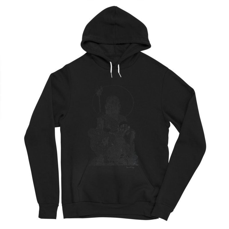 Buddha - One Continuous Line Women's Sponge Fleece Pullover Hoody by Daniel Dugan's Artist Shop