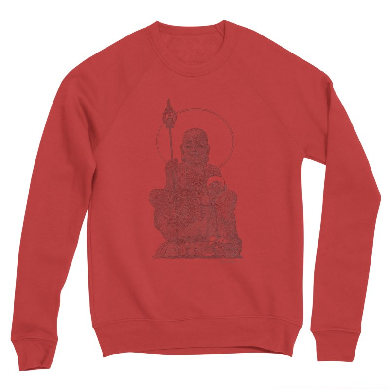 Buddha - One Continuous Line Men's Sponge Fleece Sweatshirt by Daniel Dugan's Artist Shop