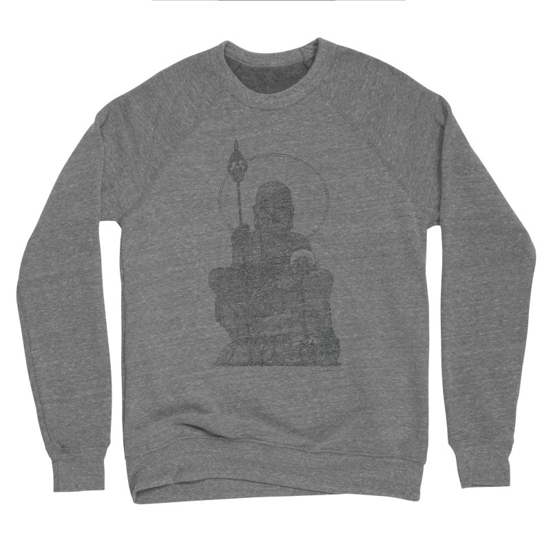 Buddha - One Continuous Line Women's Sponge Fleece Sweatshirt by Daniel Dugan's Artist Shop