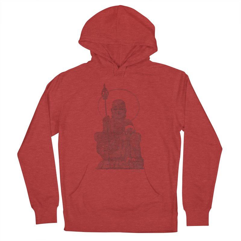 Buddha - One Continuous Line Women's French Terry Pullover Hoody by Daniel Dugan's Artist Shop