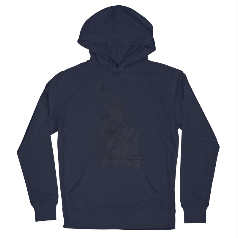 Buddha - One Continuous Line Men's French Terry Pullover Hoody by Daniel Dugan's Artist Shop