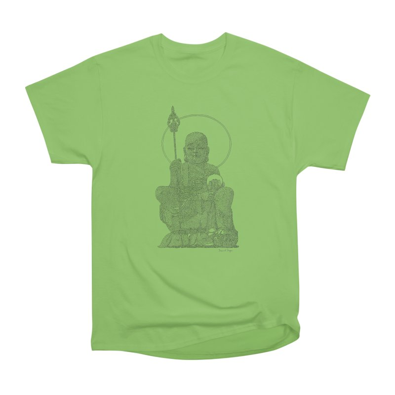 Buddha - One Continuous Line Men's Heavyweight T-Shirt by Daniel Dugan's Artist Shop