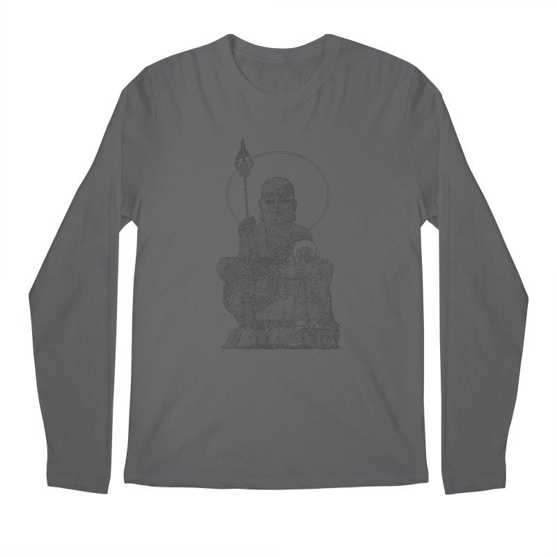 Buddha - One Continuous Line Men's Longsleeve T-Shirt by Daniel Dugan's Artist Shop