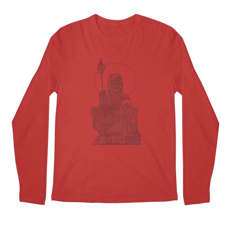 Buddha - One Continuous Line Men's Regular Longsleeve T-Shirt by Daniel Dugan's Artist Shop