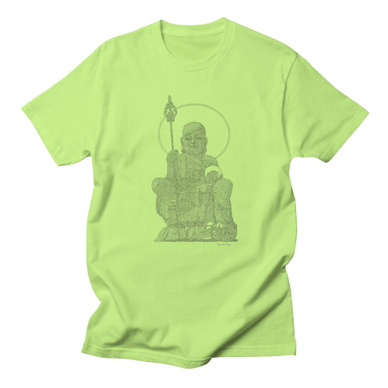 Buddha - One Continuous Line Men's Regular T-Shirt by Daniel Dugan's Artist Shop