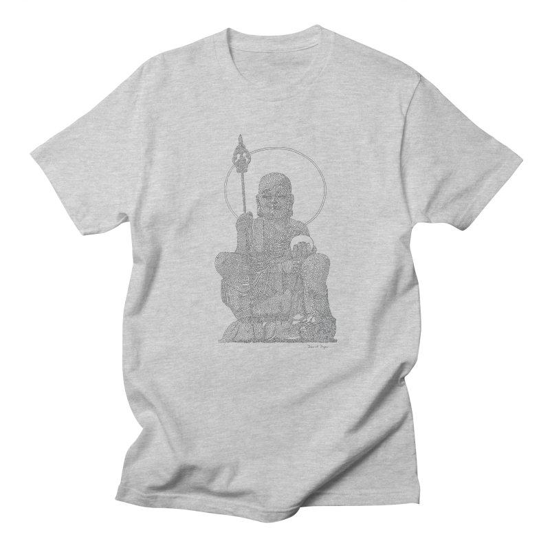 Buddha - One Continuous Line Women's Regular Unisex T-Shirt by Daniel Dugan's Artist Shop