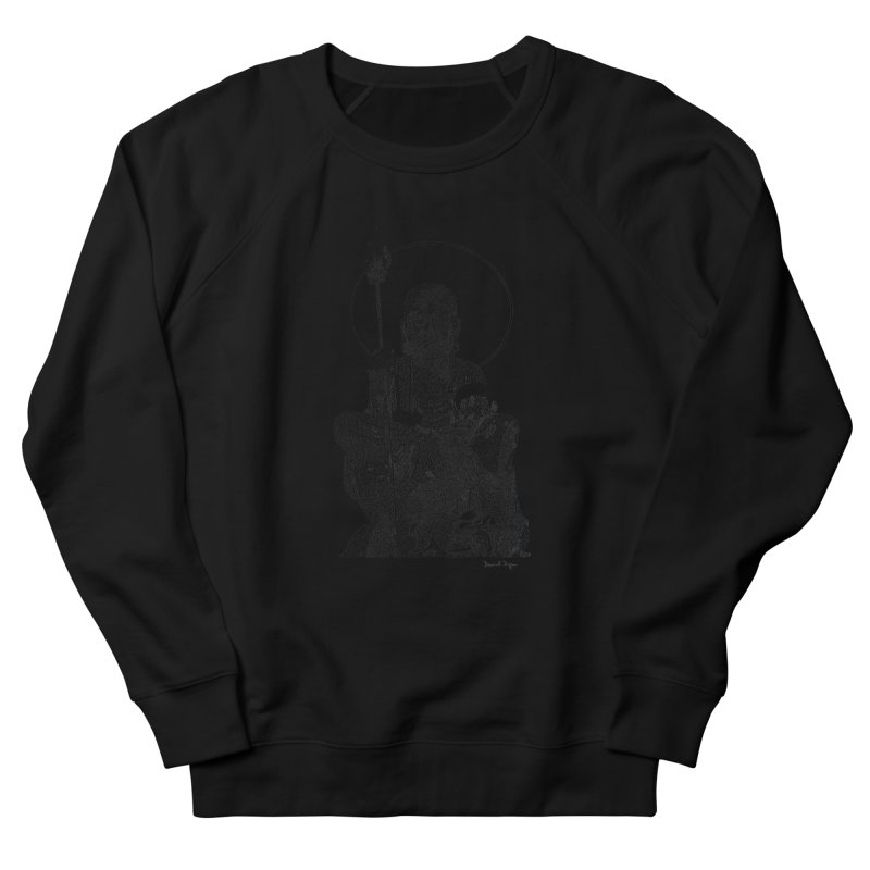 Buddha - One Continuous Line Women's French Terry Sweatshirt by Daniel Dugan's Artist Shop