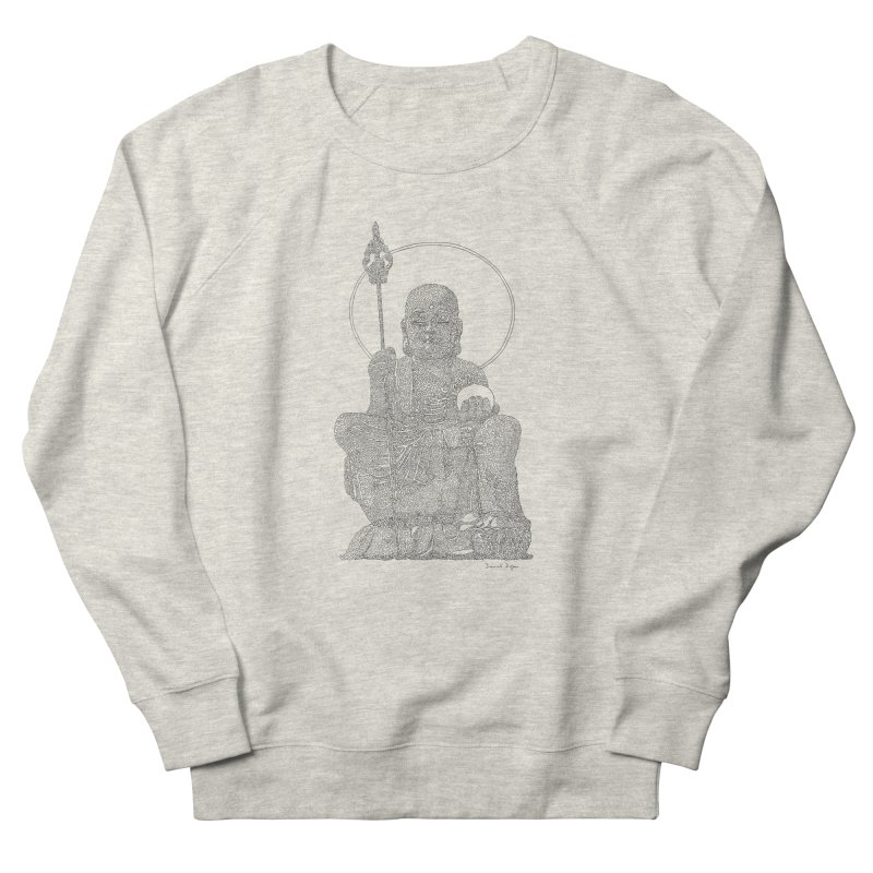 Buddha - One Continuous Line Women's French Terry Sweatshirt by Daniel Dugan's Artist Shop