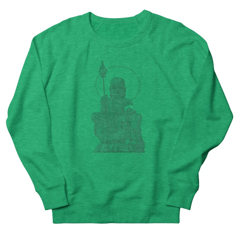 Buddha - One Continuous Line Men's French Terry Sweatshirt by Daniel Dugan's Artist Shop