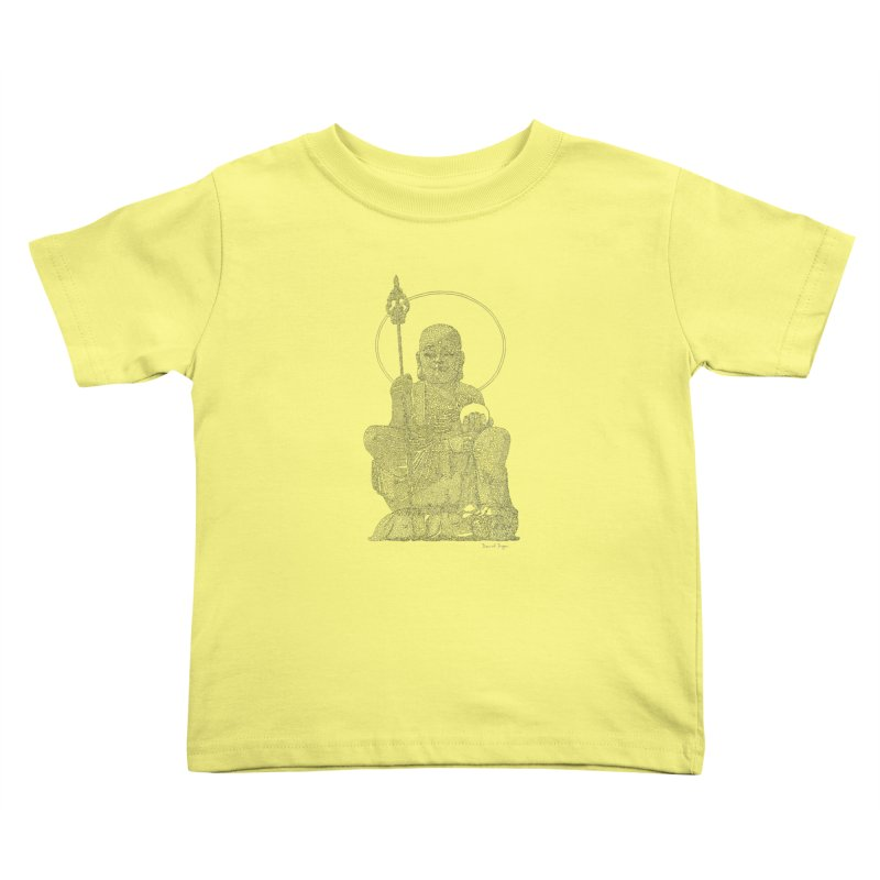 Buddha - One Continuous Line Kids Toddler T-Shirt by Daniel Dugan's Artist Shop