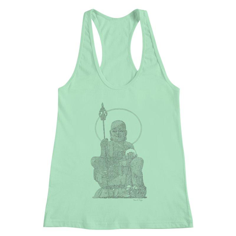 Buddha - One Continuous Line Women's Racerback Tank by Daniel Dugan's Artist Shop