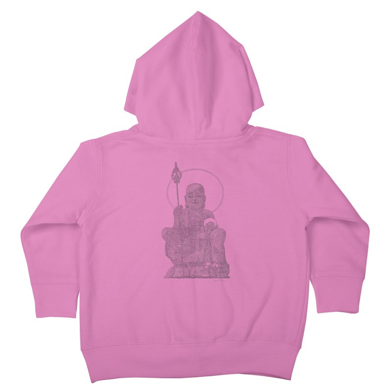 Buddha - One Continuous Line Kids Toddler Zip-Up Hoody by Daniel Dugan's Artist Shop