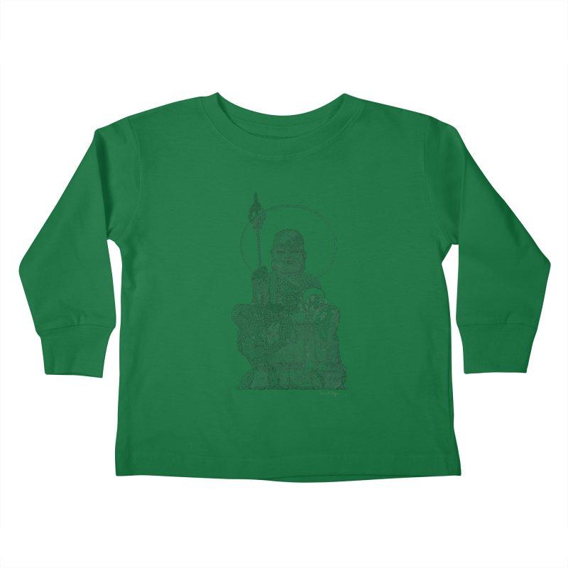 Buddha - One Continuous Line Kids Toddler Longsleeve T-Shirt by Daniel Dugan's Artist Shop