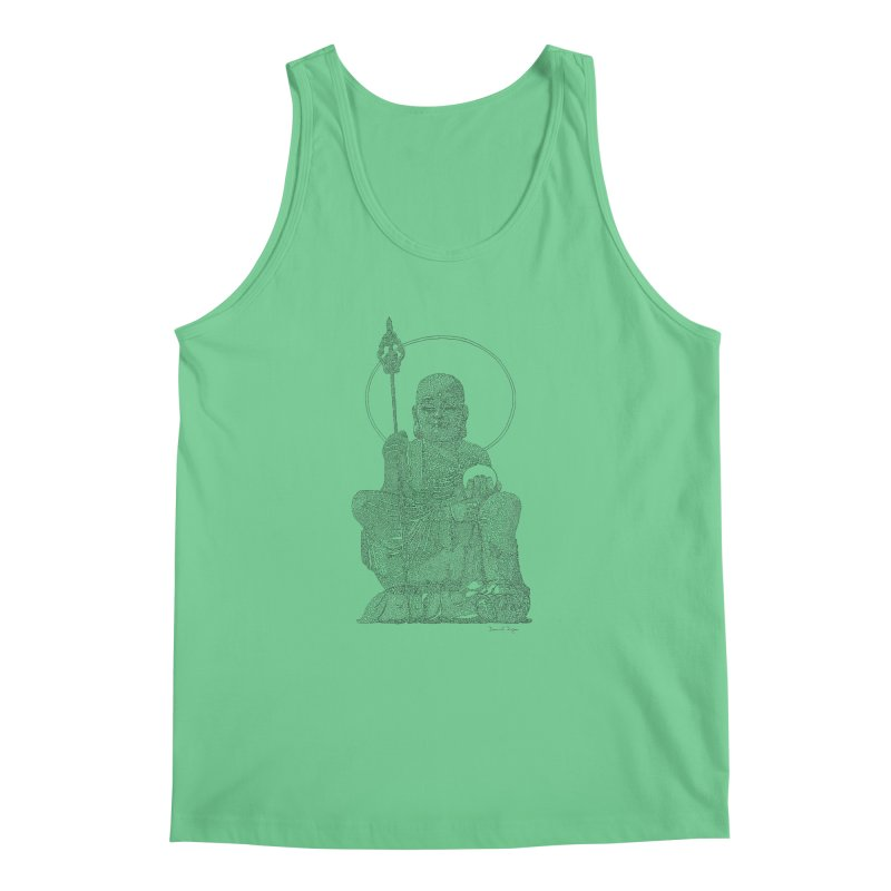 Buddha - One Continuous Line Men's Regular Tank by Daniel Dugan's Artist Shop