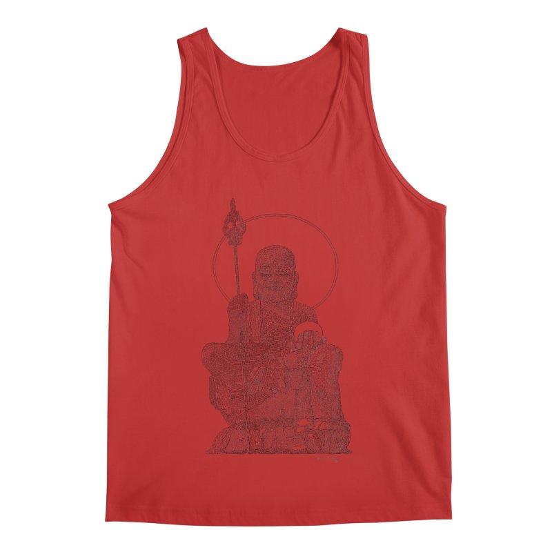 Buddha - One Continuous Line Men's Regular Tank by Daniel Dugan's Artist Shop