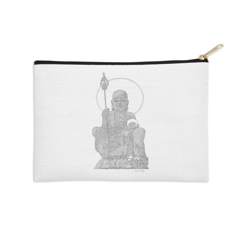 Buddha - One Continuous Line Accessories Zip Pouch by Daniel Dugan's Artist Shop
