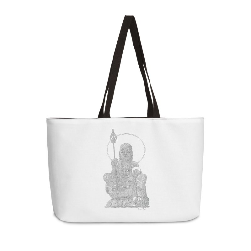 Buddha - One Continuous Line Accessories Weekender Bag Bag by Daniel Dugan's Artist Shop