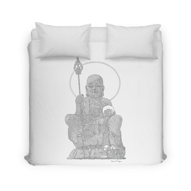 Buddha - One Continuous Line Home Duvet by Daniel Dugan's Artist Shop