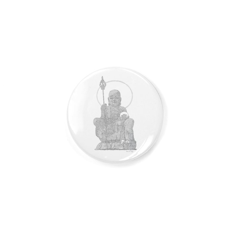 Buddha - One Continuous Line Accessories Button by Daniel Dugan's Artist Shop