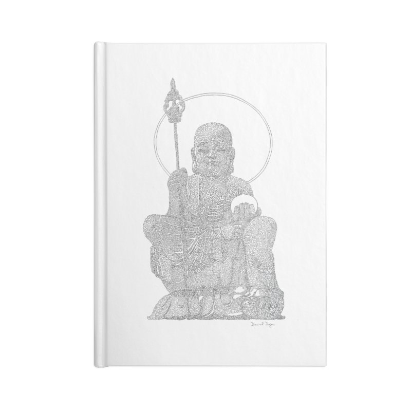 Buddha - One Continuous Line Accessories Lined Journal Notebook by Daniel Dugan's Artist Shop