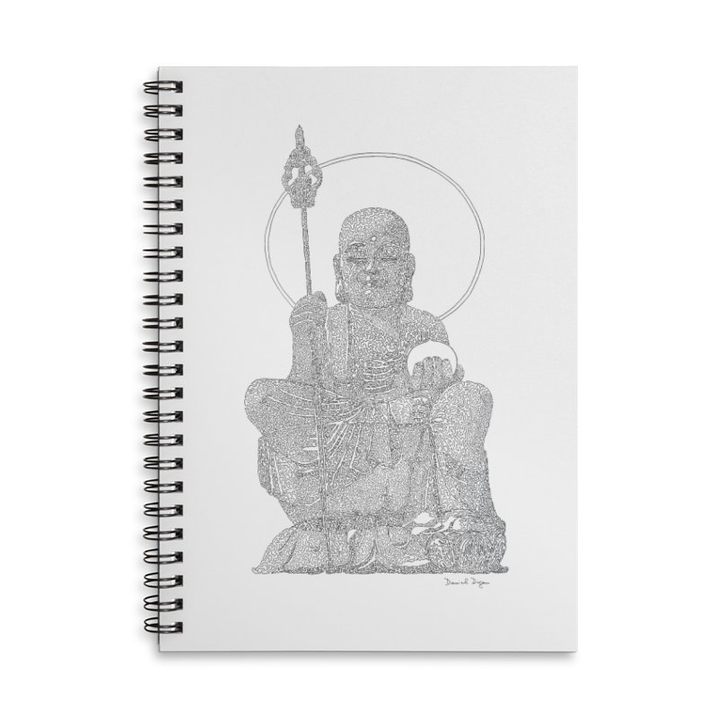 Buddha - One Continuous Line Accessories Lined Spiral Notebook by Daniel Dugan's Artist Shop