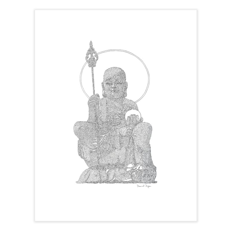 Buddha - One Continuous Line Home Fine Art Print by Daniel Dugan's Artist Shop