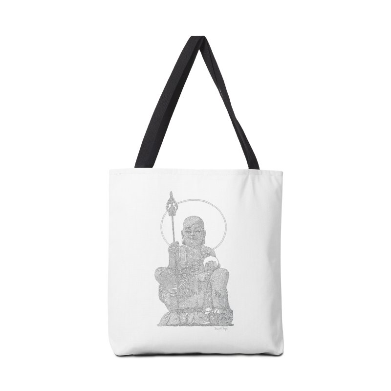 Buddha - One Continuous Line Accessories Tote Bag Bag by Daniel Dugan's Artist Shop