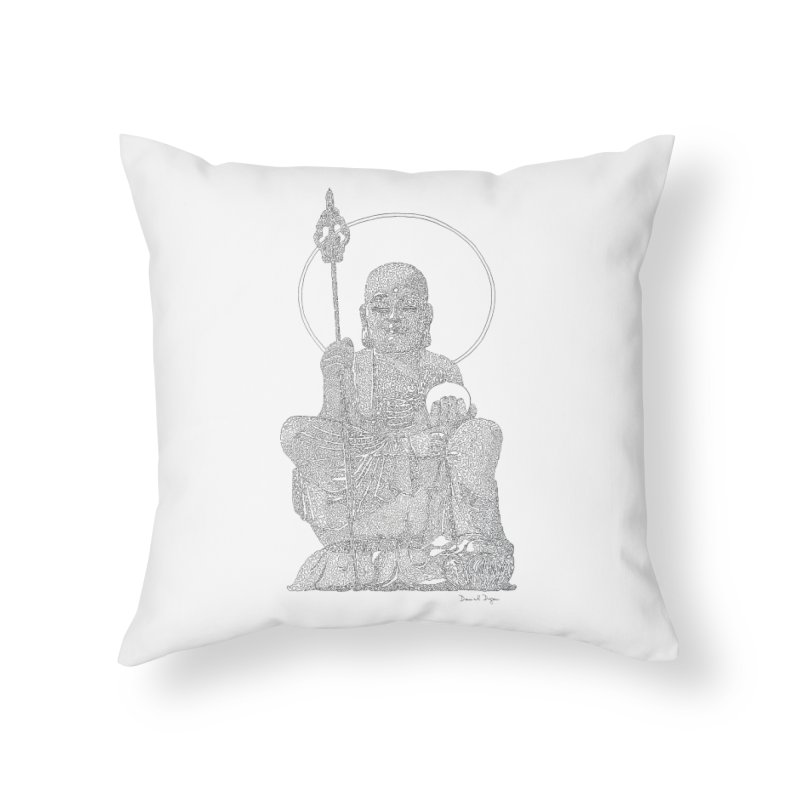 Buddha - One Continuous Line Home Throw Pillow by Daniel Dugan's Artist Shop