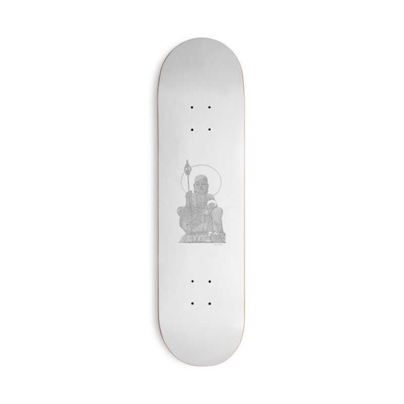 Buddha - One Continuous Line Accessories Deck Only Skateboard by Daniel Dugan's Artist Shop