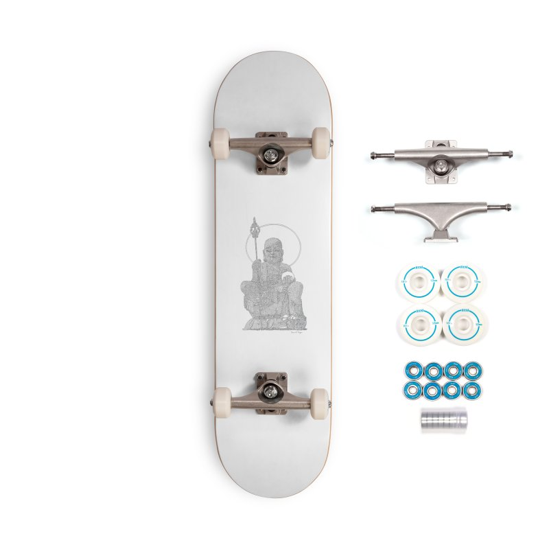 Buddha - One Continuous Line Accessories Complete - Basic Skateboard by Daniel Dugan's Artist Shop