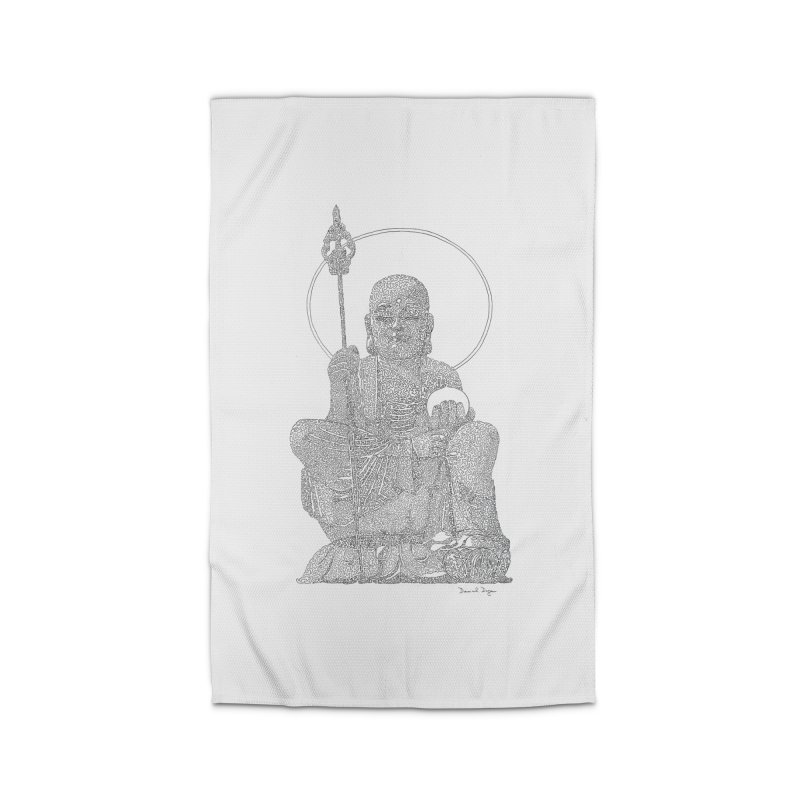 Buddha - One Continuous Line Home Rug by Daniel Dugan's Artist Shop
