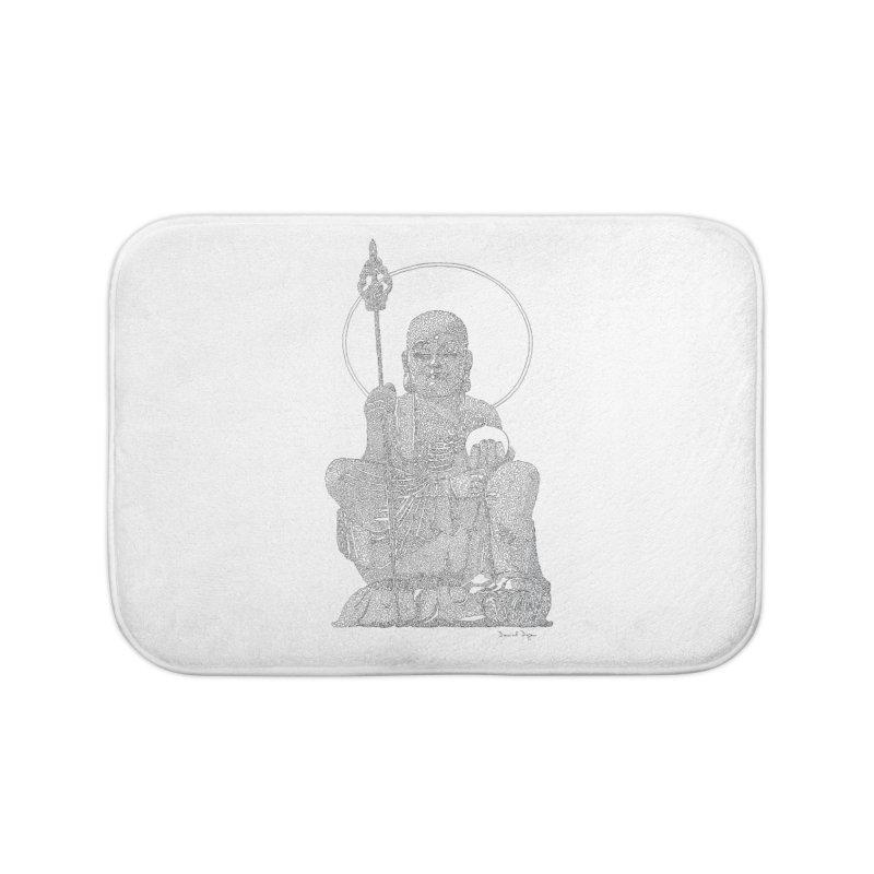 Buddha - One Continuous Line Home Bath Mat by Daniel Dugan's Artist Shop