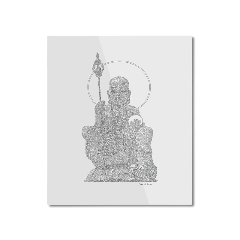 Buddha - One Continuous Line Home Mounted Aluminum Print by Daniel Dugan's Artist Shop