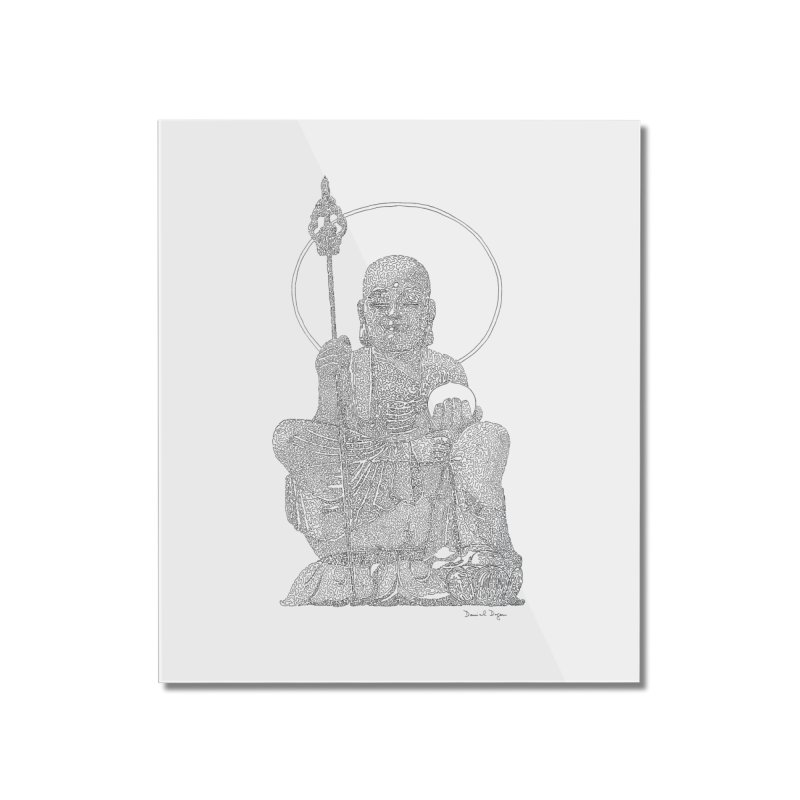Buddha - One Continuous Line Home Mounted Acrylic Print by Daniel Dugan's Artist Shop
