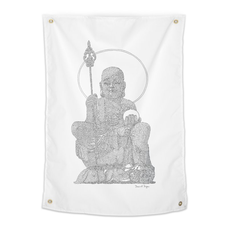 Buddha - One Continuous Line Home Tapestry by Daniel Dugan's Artist Shop