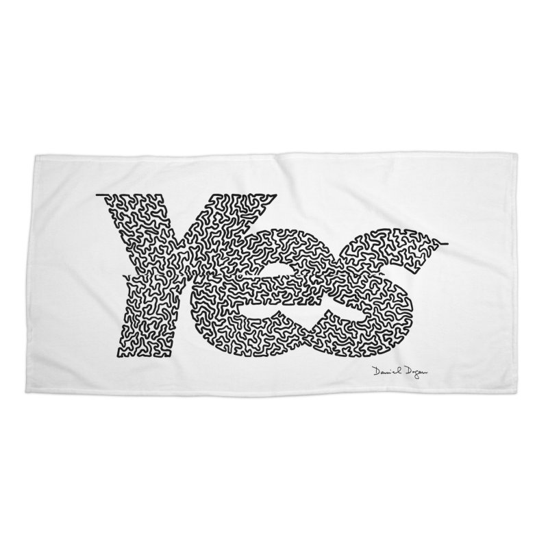 Yes Accessories Beach Towel by Daniel Dugan's Artist Shop
