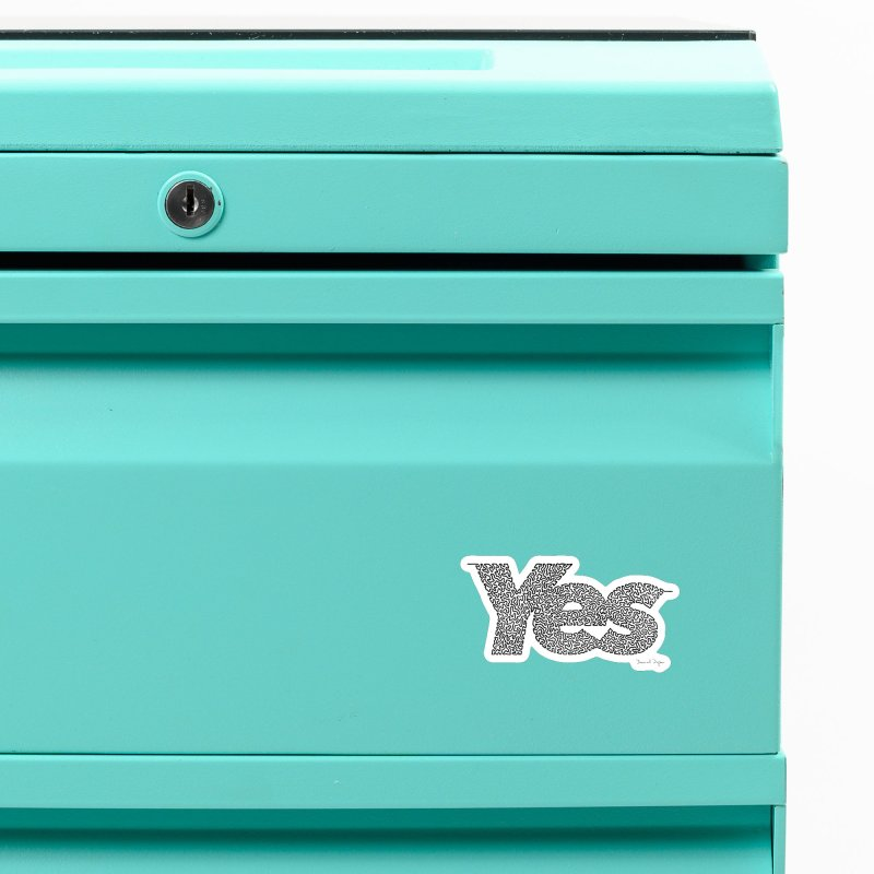 Yes - One Continuous Line Accessories Magnet by Daniel Dugan's Artist Shop