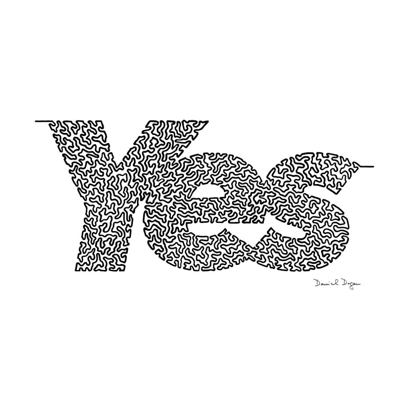 Yes - One Continuous Line by Daniel Dugan's Artist Shop