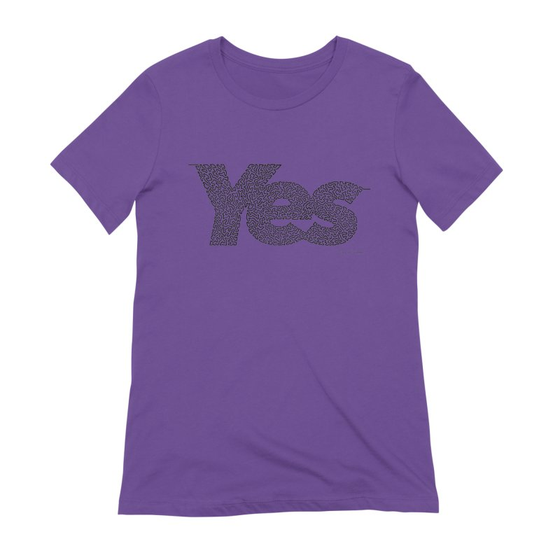 Yes - One Continuous Line Women's Extra Soft T-Shirt by Daniel Dugan's Artist Shop